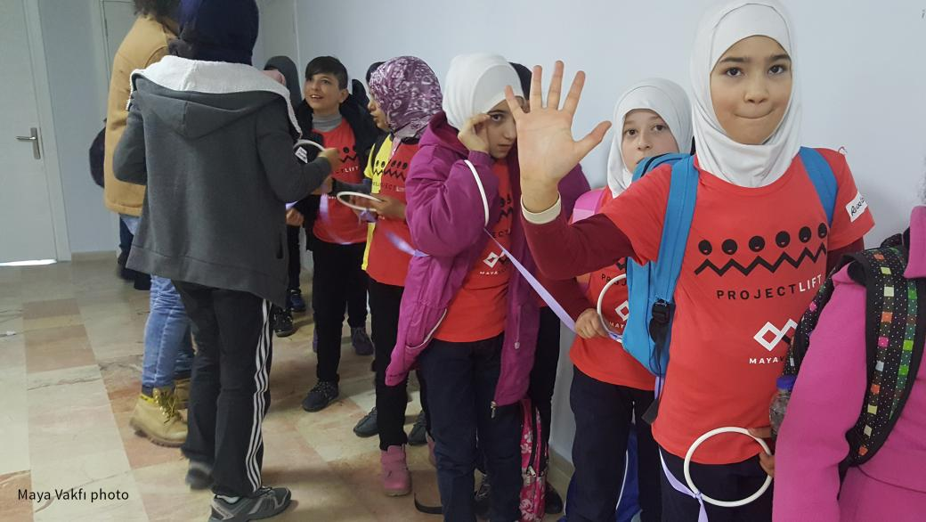 Children who participate in Maya Vakfı's Project Lift in Turkey