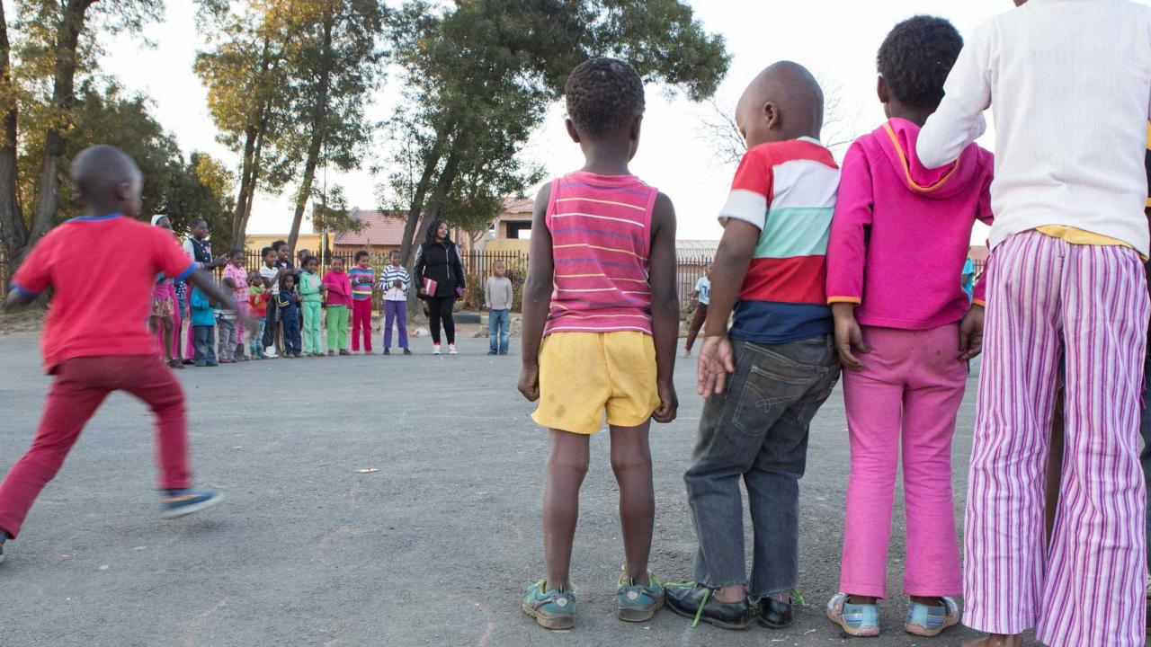 Safe space playground for children in Soweto township, Johannesburg, South Africa, set up by NACCW.