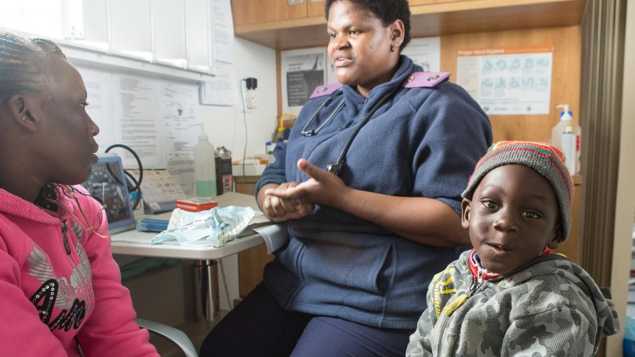 Maternal and child health clinic in Namibia