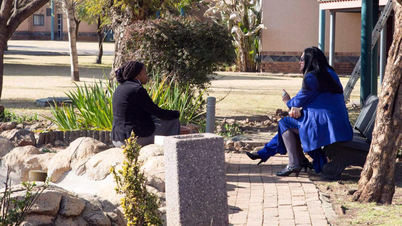 Conversation among LINC Fellows in South Africa
