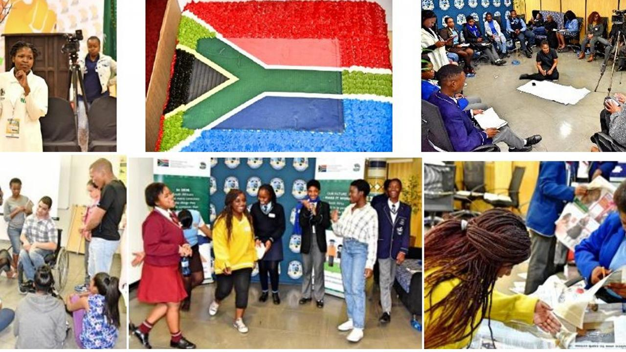 Workshops with children in South Africa