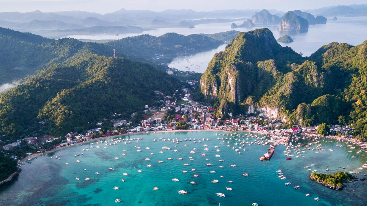 El Nido harbor in the Philippines