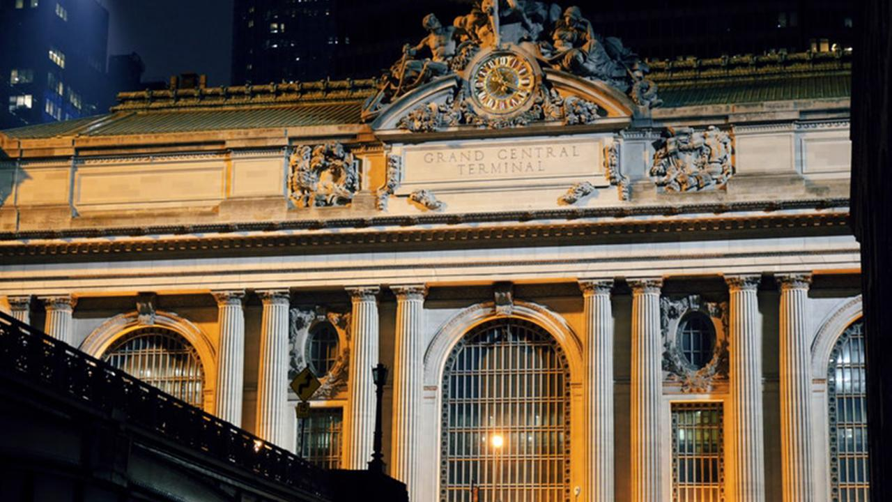 bridge leading into Grand Central Terminal in New York City