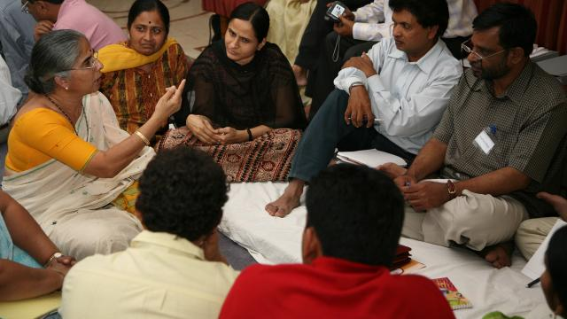 Participants in change lab for a partnership for child nutrition in India