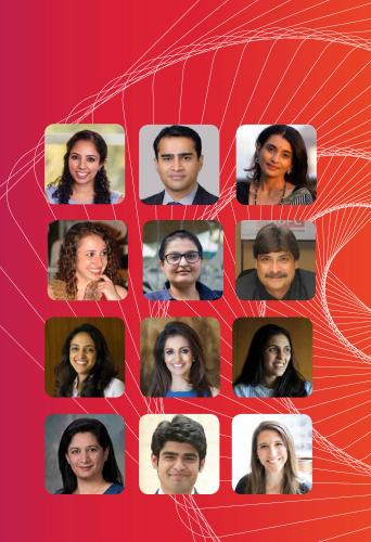 Report image with photos of nextgen leaders in philanthropy in India